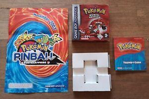 Verpackung Anleitung Pokémon: Rubin-Edition Nintendo Game Boy Advance, 2003 OVP