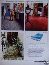 PUBLICITÉ 1973 TRICONFORT SOMMER BEAUCOUP PLUS QU'UN SOL PLASTIQUE - ADVERTISING