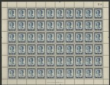 SOUTHERN RHODESIA  1947 VICTORY PEACE 3d Full Sheet of 60 + CONSTANT VARIETY