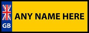 Personalised Boys Mini Number Plate Any Text Kids Bedroom Wall Door Sign Plaque
