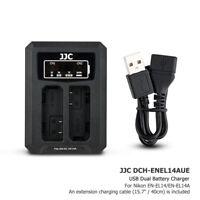 USB Dual Battery Charger fits EN-EL14A for Nikon D5600 D5500 D5300 D3500 D3400