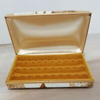 Vintage Mele Earring Floral Jewelry Travel Hard Case Box Organizer EUC