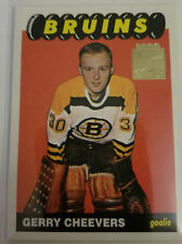 01/02 topps archives gerry cheevers rookie reprint