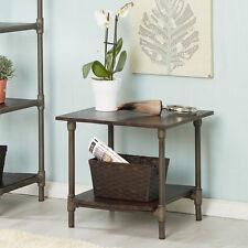 Centra Dark Mango Wood & Metal Square Table