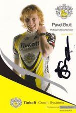 CYCLISME carte cycliste PAVEL BRUTT équipe TINKOFF signée