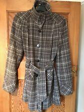 Wool Winter Ladies Checked Coat