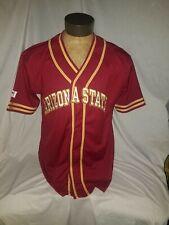 Arizona State University Stitched Baseball Jersey, Size: Medium, Make: Steve &