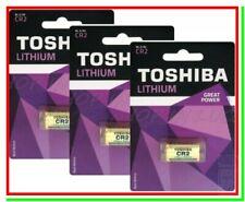 3 Pile CR2 TOSHIBA Batterie Litio 3v EL1CR2 CR17355 2CR13252 RLCR2 Foto Camera