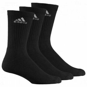 Adidas Sports 3 Pairs AdiCrew HC Half Cushion Mens Kids Socks Black Z25522 A183B