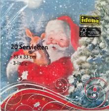 20 Weihnachts - Servietten Tischdeko Motive Weihnachtsmann