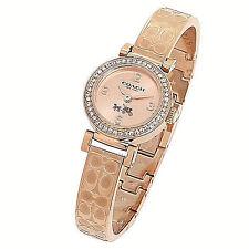 NWT Coach Women's Watch ROSE GOLD & Clear Glitz Bracelet MADISON 14502203