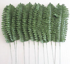 Artificial Boston Fern Leaves x 12 - 46cm Dark Green Artificial Foliage