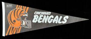 "Vintage Cincinnati Bengals 1980s 29"" NFL Football Pennant Flag - Shipped Flat!"
