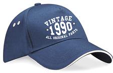 Vintage significativo Cumpleaños año Gorra de béisbol edad 30 40 50 60 70 Elección del Color
