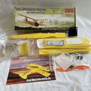 GWS Pico Tiger Moth Slow Fly RC Plane Kit NOS VTG Radio Controlled