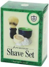 Van Der Hagen Premium Shave Set (Soap, Bowl, Brush) Box Kit Metal Travel Hair