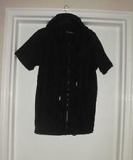 8IGHTH DSTRKT Men's Size S Rip Tear Black Zip Short Sleeve   Hoddie Jacket Top