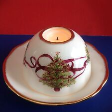 One Christmas Tree Tealight Royal Albert Old Country Roses Votive NIB  XMAS SALE