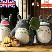 Totoro Plush Soft Toy 38cm Cat Bus 28cm Studio Ghibli Anime My Neighbour Gifts
