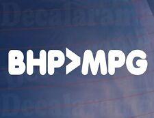 BHP>MPG Drôle Nouveauté Blague Vinyle Auto/Van/Vitre/Autocollant/autocollant
