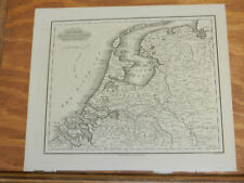 1846 Antique Map//THE SEVEN UNITED PROVINCES/The NETHERLANDS