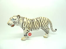 723) Schleich (14098) Tiger weiss kleine Fahne Schleichtier  Schleichtiere