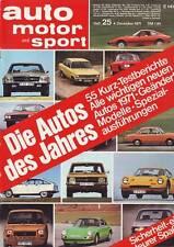 ams 25/71 BMW 2800 CS Schnitzer/Alfa 2000 GTV/Capri 2600 GT May Turbo/4.12.1971
