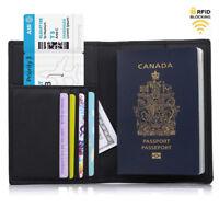 [Multi-Card Storage] Travel RFID Blocking Passport Holder Slim Wallet Organizer