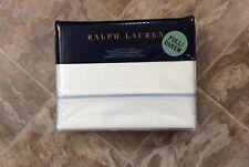 NEW Ralph Lauren Palmer Full Queen Duvet Cover White Oxford Blue Stripe