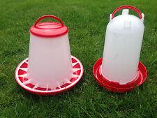 3 kg feeder and 3 ltr drinker For Chickens/Poultry/Hens/Turkeys/Chicks/Ducks lt