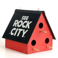 Birdhouse See Rock City Purple Martin Bluebird Home Feeder Backyard Garden Decor