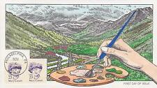 COLLINS HAND-PAINTED FDC FIRST DAY COVER 1989 MARY CASSART - FAMOUS PEOPLE TOPIC