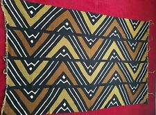 "Ex Lg Authentic African Handwoven MudCloth Sz 128"" x 41.5"" Mali Mud Cloth Fabric"