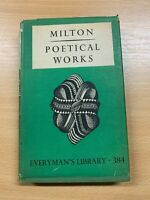 "1946 JOHN MILTON ""POETICAL WORKS"" FICTION SMALL HARDBACK BOOK"