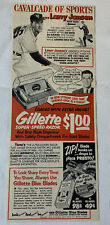 1952 Gillette cartoon ad ~ LARRY JANSEN ~ NY Yankees