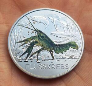 AUSTRIA 3 EUROS 2019 CANGREJO color Österreich 3€ FLUSSKREBS CRAYFISH Creatures
