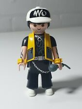 Playmobil male Figure Singer / Rock Star Celeb & Mike Band House  RARE