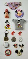 VINTAGE Lot of Disney Collectible items Souvenirs Buttons Key Chains Watch  ETC.