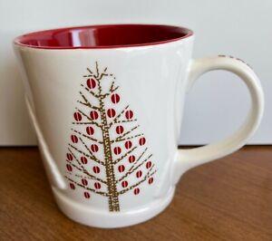 NEW 2008 STARBUCKS CHRISTMAS HOLIDAY COFFEE MUG CHRISTMAS TREE REINDEER EMBOSSED