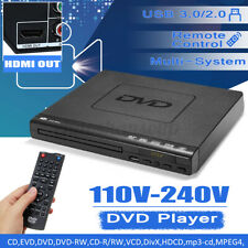 1080P HD LCD DVD Player Compact Multi Region Video MP4 MP3 Controller DVD+RW/-RW