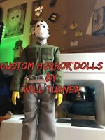 "Jason Voorhees CUSTOM HORROR DOLL OOAK 12"" Friday 13th Jason Lives OOAK Figure"