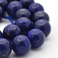 Lapislazuli Perlen 10mm Rund Natur Edelstein Schmucksteine Lapis Lazuli  AZG227