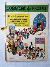 CORRIERE dei PICCOLI-10 APRILE 1966 N.15-PRATT-TOPPI CARTOLINA BOLOGNA-NO INS