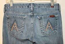 7 for All Mankind A-Pocket Bootcut Women's Blue Jeans 26x33