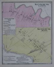 Original 1872 Maps KENNEBUNK LANDING & DEPOT York County Maine PS&P Railroad