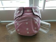Reusable Cloth Nappy with bamboo charcoal insert/boosters - Pretty Pink