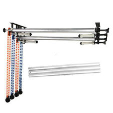 4 Roller Manual Backdrop Elevator Background Wall Support Lifter +Cross Bar Tube