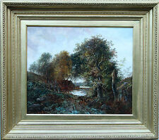JOSEPH THORS 1842-1898 BRITISH ROMANTIC VICTORIAN LANDSCAPE  OIL PAINTING ART