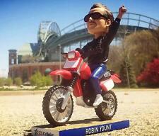 "2017 MILWAUKEE BREWERS ROBIN YOUNT ""MOTORCYCLE"" BIKE SGA BOBBLEHEAD ~ NIB"