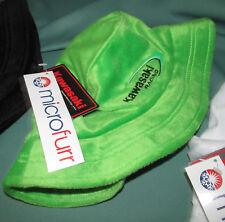 Kawasaki Racing Motorcycle HAT cap Microfurr Mens Womens Girls Boys Neon Green